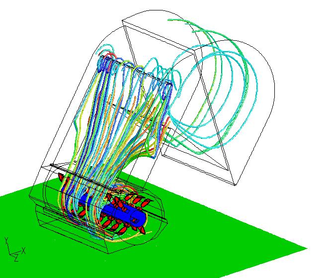simulation numérique des écoulements flux d'air fluent