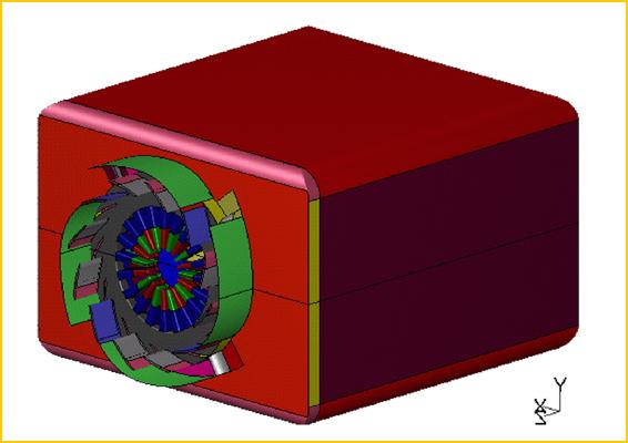 Simulation numérique - Géométrie modélisée à l'aide de Gambit