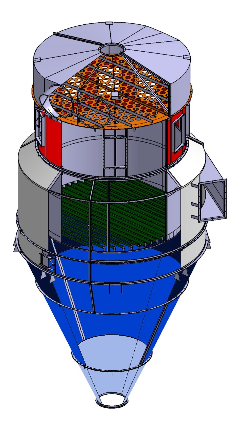 Système de filtration de l'air chargé en poussières CAO sous CATIA