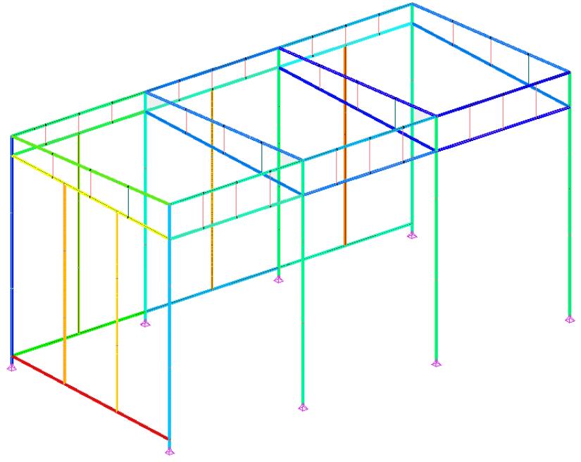 Calcul d'un anuvent en charpente métallique